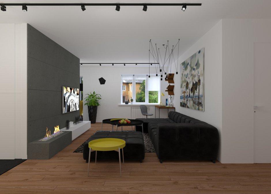 Фотография:  в стиле , Квартира, Студия, Россия, Минимализм, Проект недели, Юлия Чернова, Монолитный дом, 40-60 метров – фото на INMYROOM