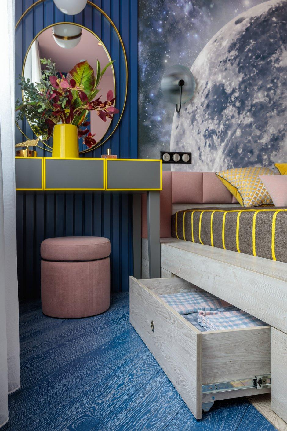 Фотография: Спальня в стиле Современный, Эклектика, Квартира, Проект недели, Москва, 3 комнаты, 60-90 метров, Алена Горская – фото на INMYROOM