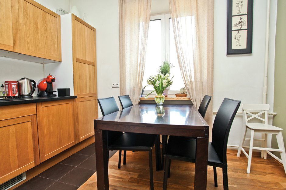 Фотография: Кухня и столовая в стиле Современный, Квартира, Дома и квартиры, Перепланировка – фото на INMYROOM