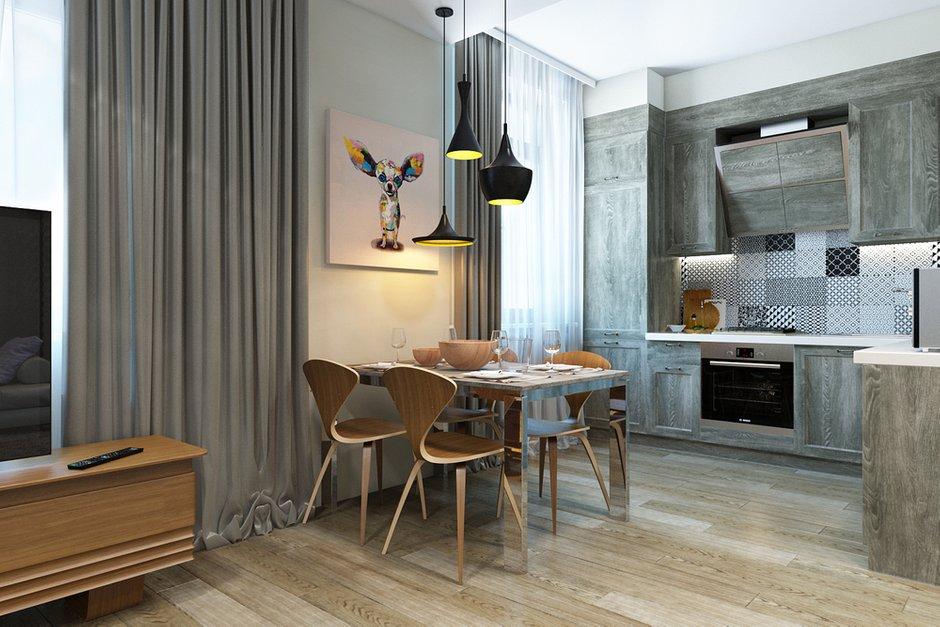 Фотография: Кухня и столовая в стиле Лофт, Эклектика, Квартира, Минимализм, Проект недели – фото на INMYROOM