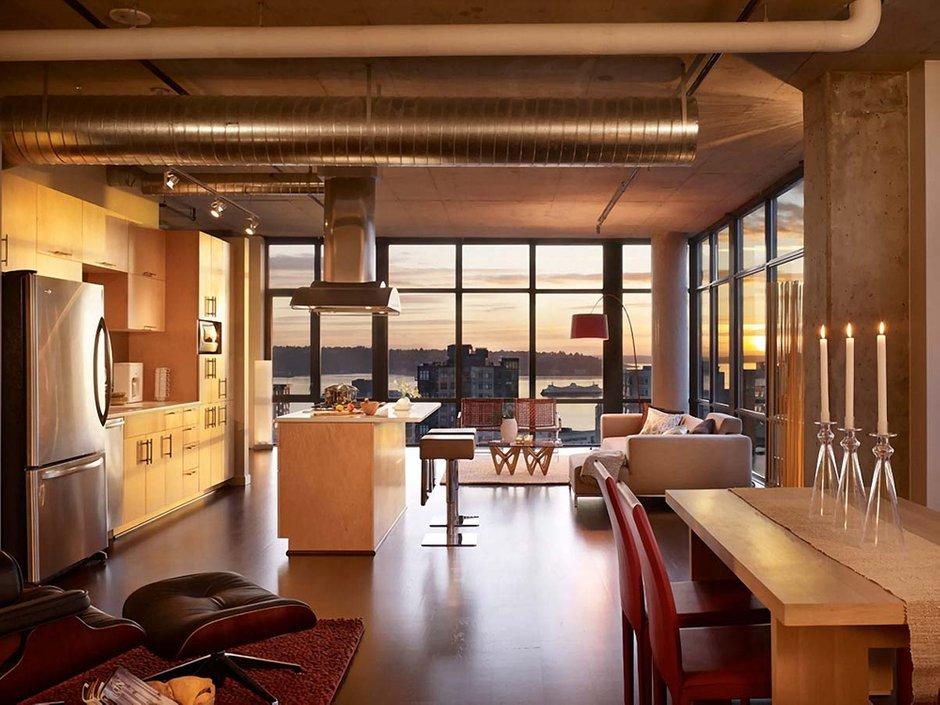 Фотография: Кухня и столовая в стиле Лофт, Современный, Декор интерьера, Квартира, Дома и квартиры, Стена, Индустриальный – фото на INMYROOM