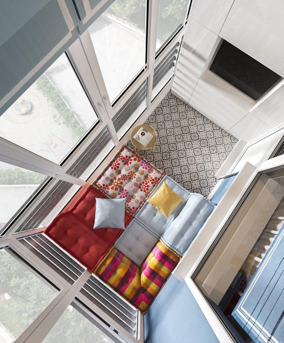 Фотография: Балкон в стиле Современный, Квартира, Проект недели, Московская область, Ольга Розина, 2 комнаты, 60-90 метров, Монолитно-кирпичный – фото на INMYROOM