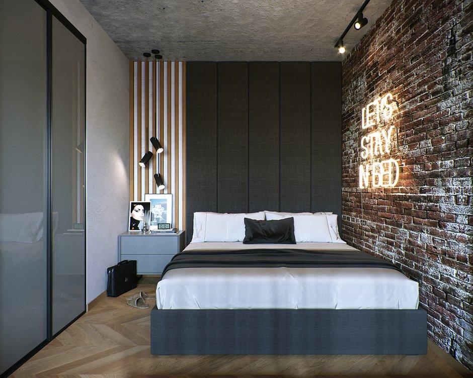 Фотография: Спальня в стиле Лофт, Кухня и столовая, Ванная, Гостиная, Квартира, Студия, Проект недели, Серый, Коричневый, до 40 метров, ПРЕМИЯ INMYROOM – фото на INMYROOM
