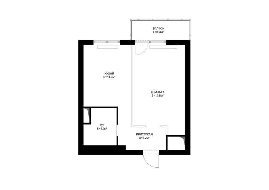 Фотография: Спальня в стиле Классический, Современный, Квартира, Студия, Перепланировка, до 40 метров, Ольга Бойцова – фото на INMYROOM