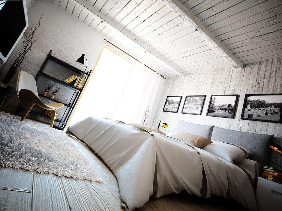 Фотография: Спальня в стиле Лофт, Скандинавский, Квартира, Дом, Дома и квартиры, Проект недели – фото на InMyRoom.ru