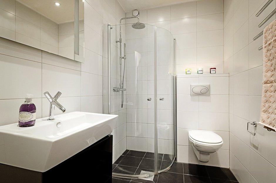 Фотография: Ванная в стиле Современный, Хай-тек, Малогабаритная квартира, Квартира, Швеция, Дома и квартиры – фото на INMYROOM