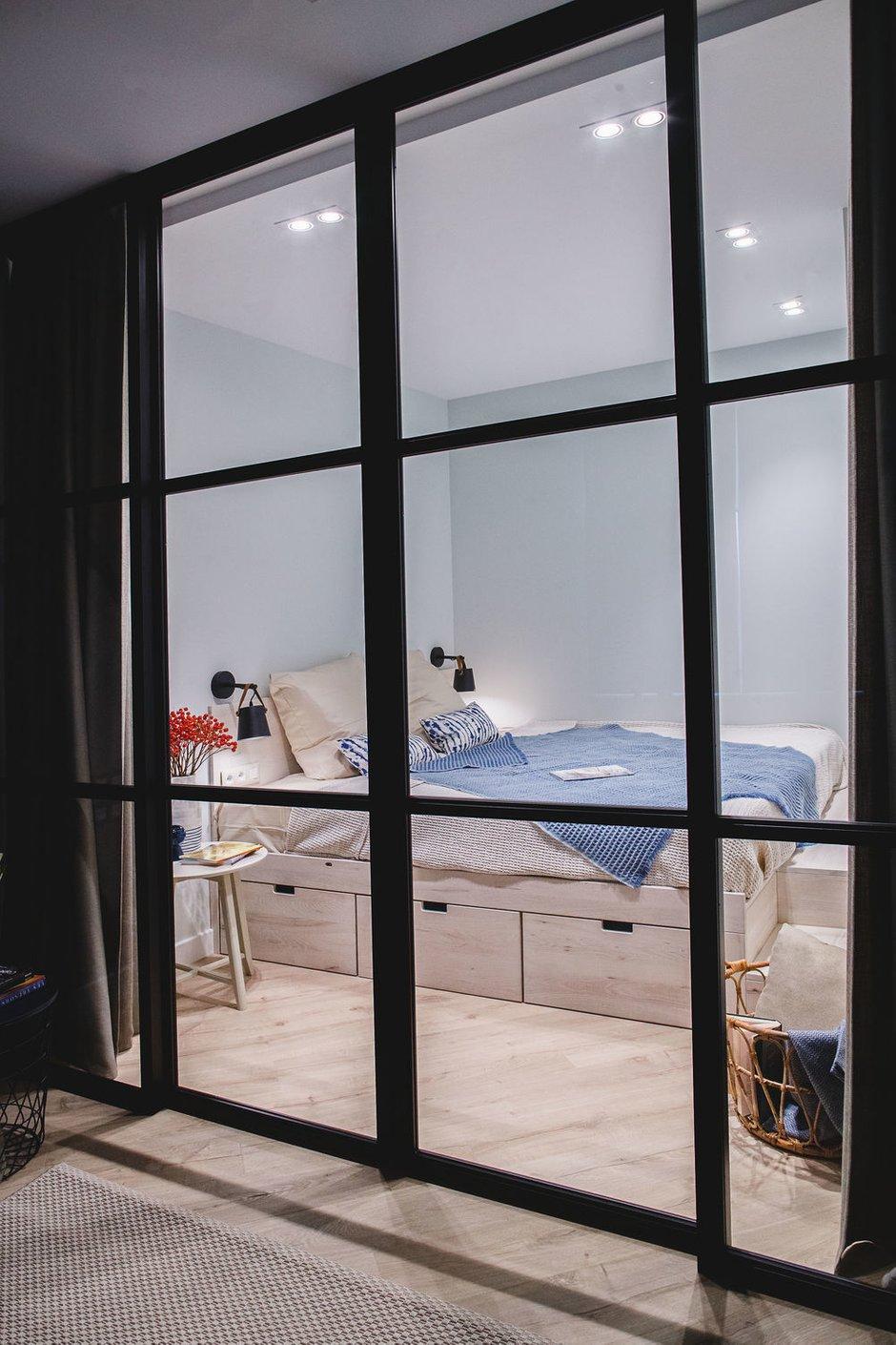 Фотография: Спальня в стиле Современный, Малогабаритная квартира, Квартира, Проект недели, Химки, 1 комната, 2 комнаты, до 40 метров, Татьяна Масленникова – фото на INMYROOM