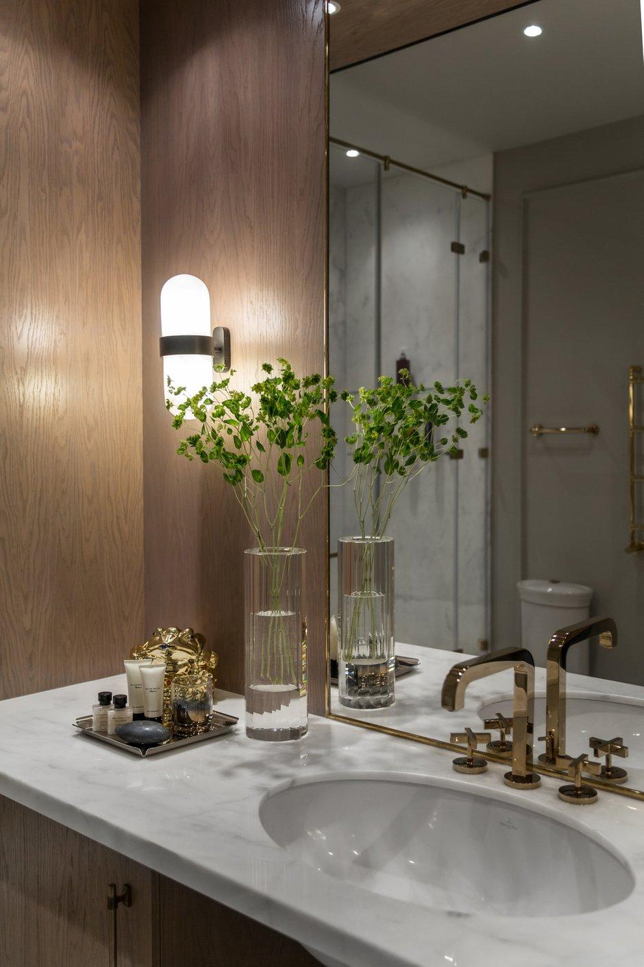 Фотография: Ванная в стиле Классический, Квартира, Проект недели, Москва, Марина Филиппова, 2 комнаты, 60-90 метров, #эксклюзивныепроекты – фото на INMYROOM