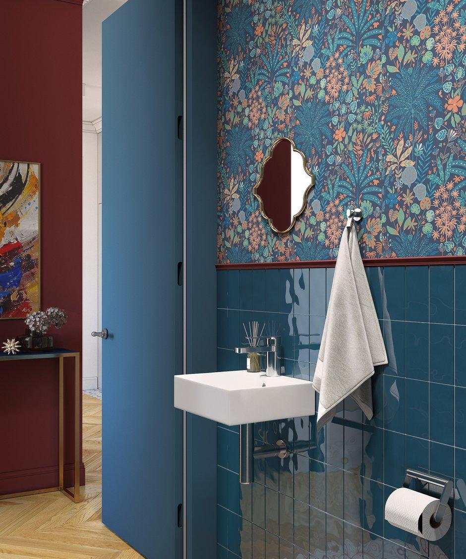 Фотография: Ванная в стиле Современный, Квартира, Проект недели, Москва, OM Design, 2 комнаты, 40-60 метров – фото на INMYROOM