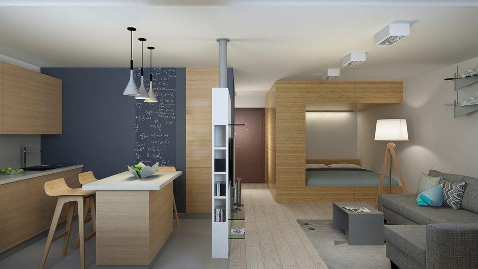 Фотография: Гостиная в стиле Современный, Минимализм, Квартира, Проект недели – фото на INMYROOM