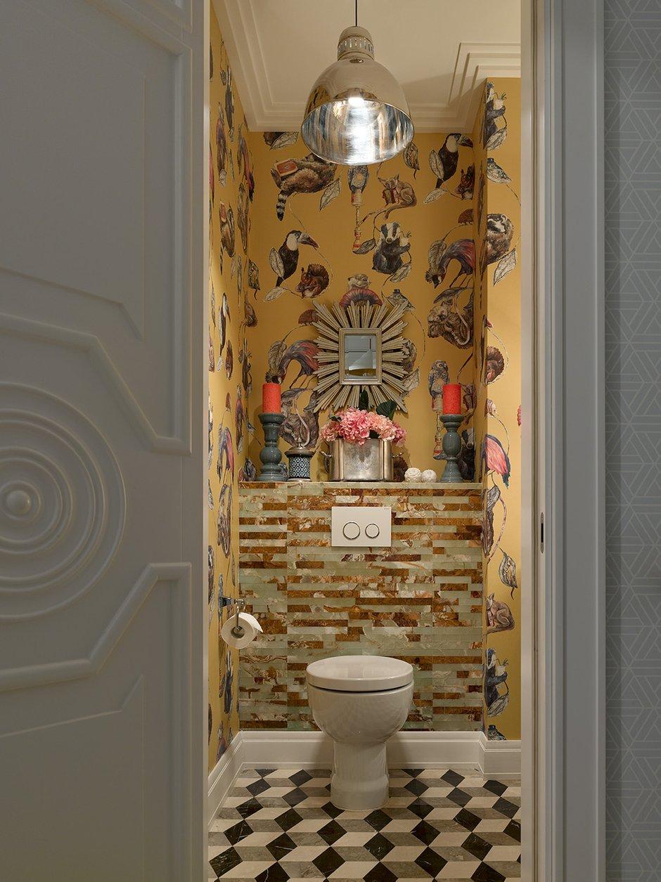 Фотография: Ванная в стиле Эклектика, Квартира, Проект недели, Москва, 4 и больше, Более 90 метров, Монолитно-кирпичный, Марина Жукова – фото на INMYROOM