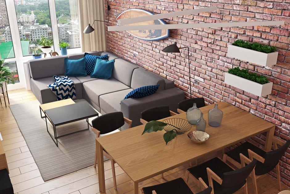 Фотография: Гостиная в стиле Современный, Квартира, Проект недели, Geometrium, Монолитный дом, 3 комнаты, 60-90 метров, ЖК «Арт Casa Luna» – фото на INMYROOM