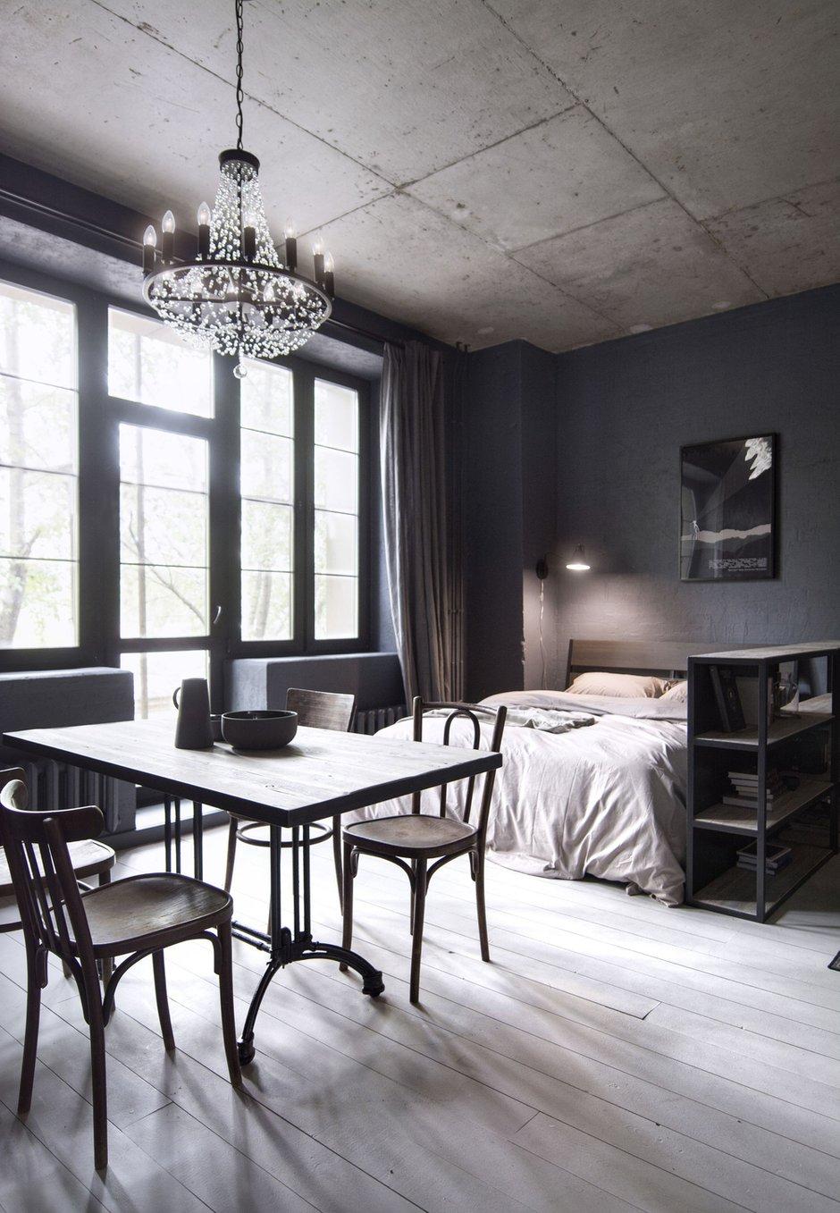 Фотография: Спальня в стиле Лофт, Квартира, Студия, Проект недели, Москва, Кирпичный дом, до 40 метров, INT2architecture – фото на INMYROOM