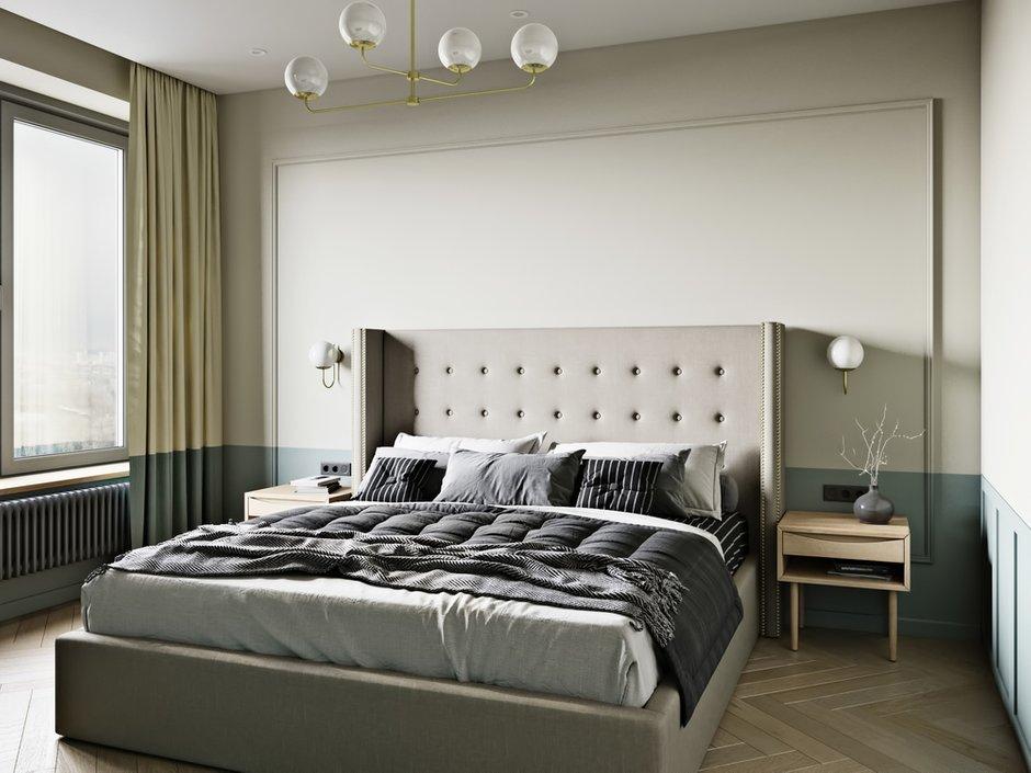 Фотография: Спальня в стиле Современный, Квартира, Проект недели, Москва, Монолитный дом, 2 комнаты, 60-90 метров, Бюро «Общая Площадь» – фото на INMYROOM