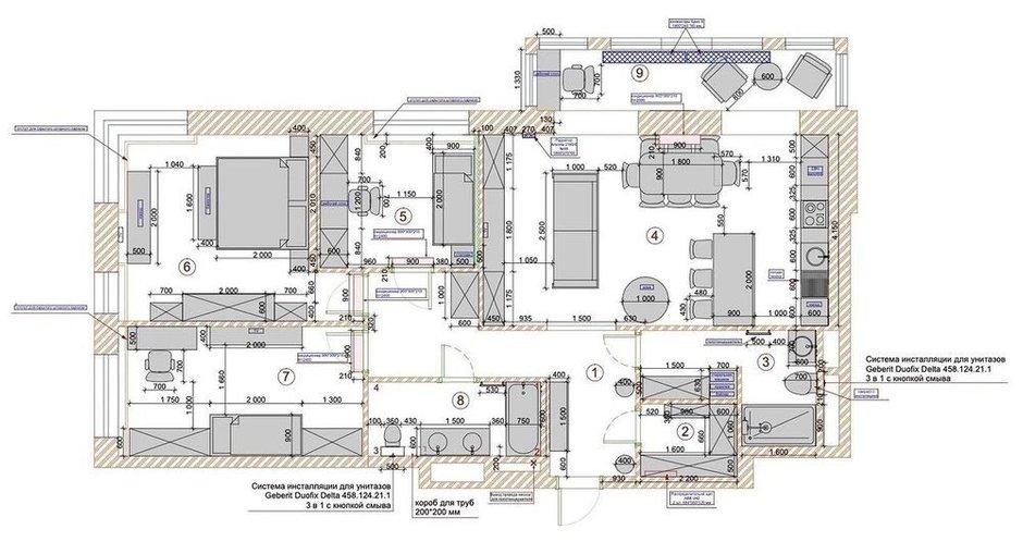 Фотография: Планировки в стиле , Эклектика, Квартира, Проект недели, Москва, 4 и больше, Более 90 метров, Бюро Home Emotions – фото на INMYROOM