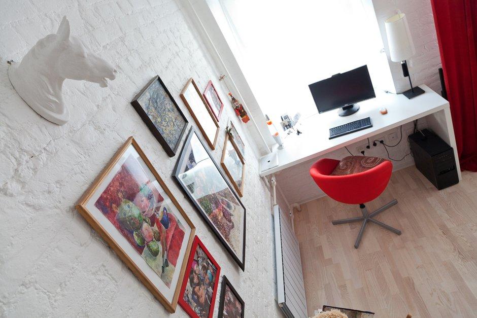 Фотография: Декор в стиле , Лофт, Малогабаритная квартира, Квартира, Цвет в интерьере, Дома и квартиры, Стены – фото на INMYROOM