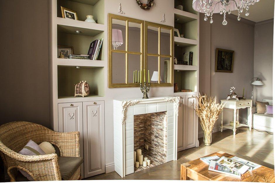 Фотография: Гостиная в стиле Прованс и Кантри, Классический, Эклектика, Квартира, Проект недели – фото на INMYROOM
