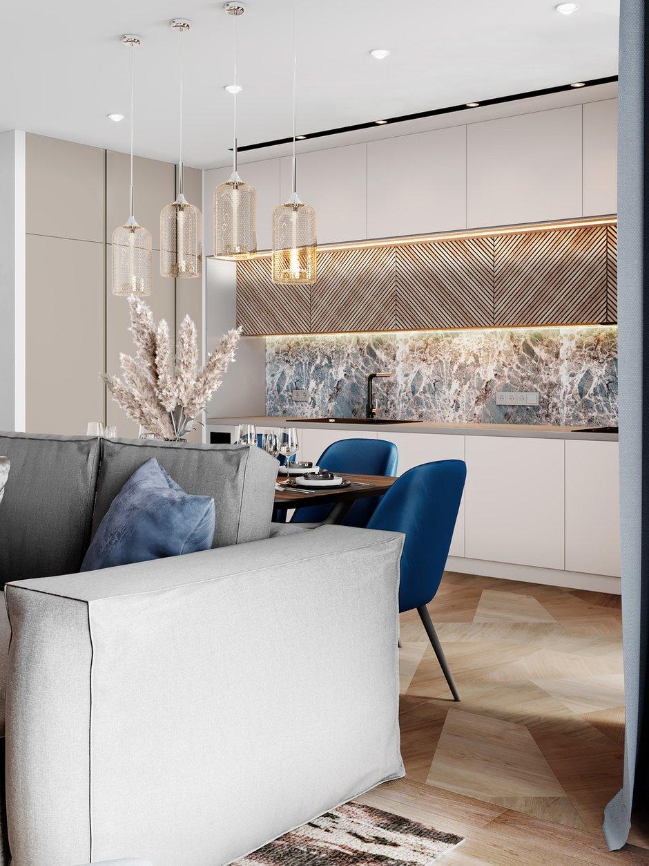 Фотография: Кухня и столовая в стиле Современный, Квартира, Проект недели, 3 комнаты, Более 90 метров, Люберцы, Александра Гартке – фото на INMYROOM