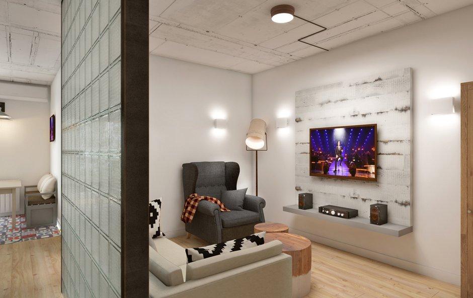 Фотография: Гостиная в стиле Лофт, Минимализм, Эклектика, Квартира, Проект недели, ИКЕА, Circle Line – фото на INMYROOM