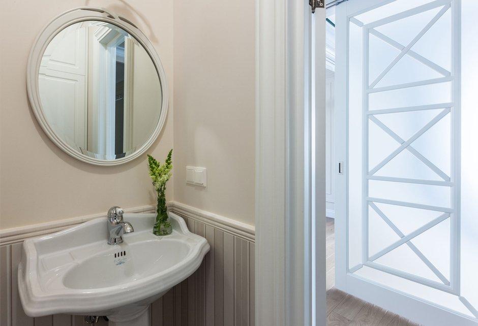 Фотография: Ванная в стиле Классический, Квартира, Проект недели, Москва, Монолитный дом, 4 и больше, Более 90 метров, Анна Максимова, ЖК «Шатер» – фото на INMYROOM