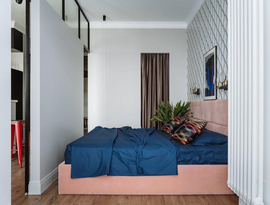 Фотография: Спальня в стиле Современный, Квартира, Проект недели, Московская область, 1 комната, 40-60 метров, Анна Моджаро, ПРЕМИЯ INMYROOM – фото на INMYROOM