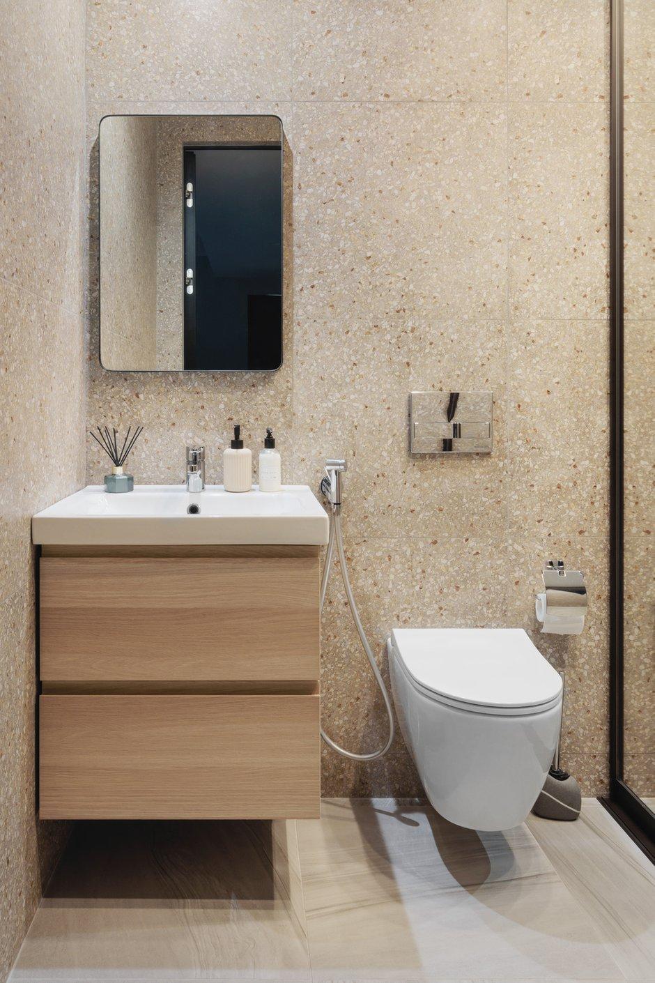 Фотография: Ванная в стиле Современный, Квартира, Минимализм, Проект недели, Москва, 3 комнаты, 40-60 метров, Валерия Москалева – фото на INMYROOM