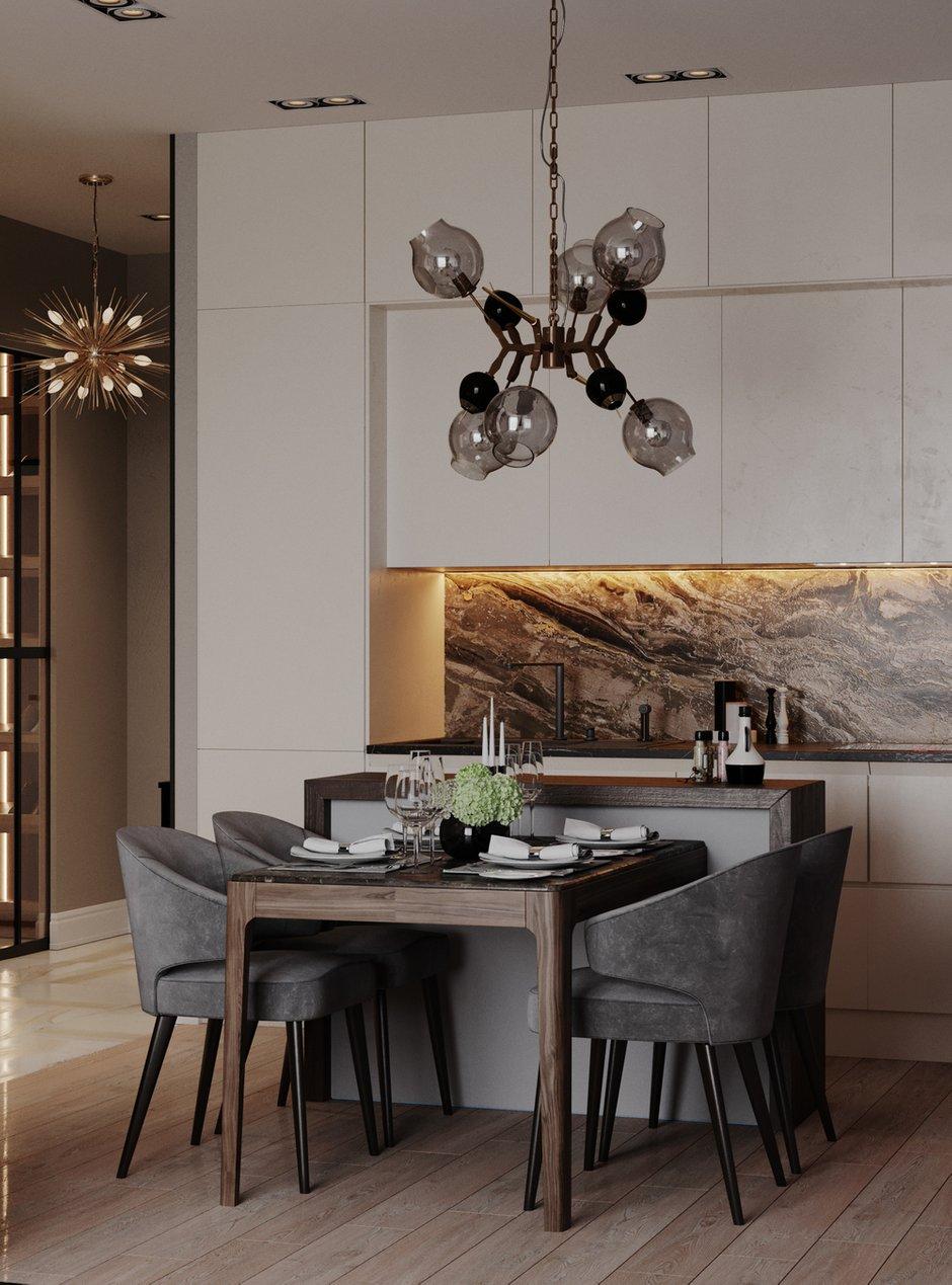 Фотография: Кухня и столовая в стиле Современный, Квартира, Проект недели, Samsung, Монолитный дом, 3 комнаты, 60-90 метров, ЖК Headliner, Леся Печенкина – фото на INMYROOM