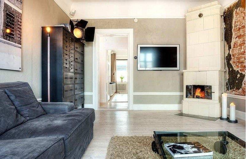 Фотография: Гостиная в стиле Современный, Скандинавский, Квартира, Дома и квартиры, Стокгольм – фото на INMYROOM