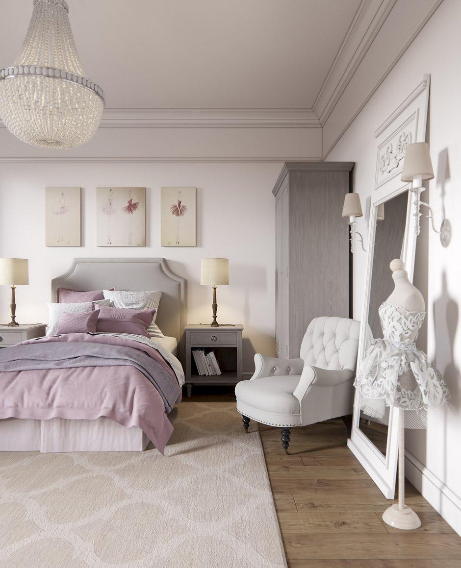 Дизайн: Светлана Чепикова, спальня в классическом стиле