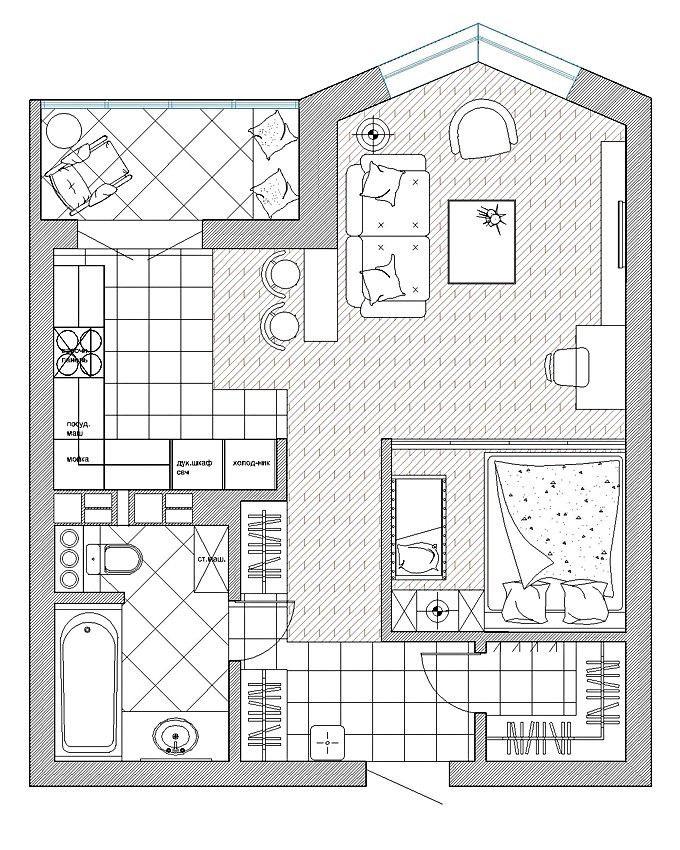 Фотография: Планировки в стиле , Малогабаритная квартира, Квартира, Дома и квартиры, Проект недели, Перепланировка – фото на INMYROOM