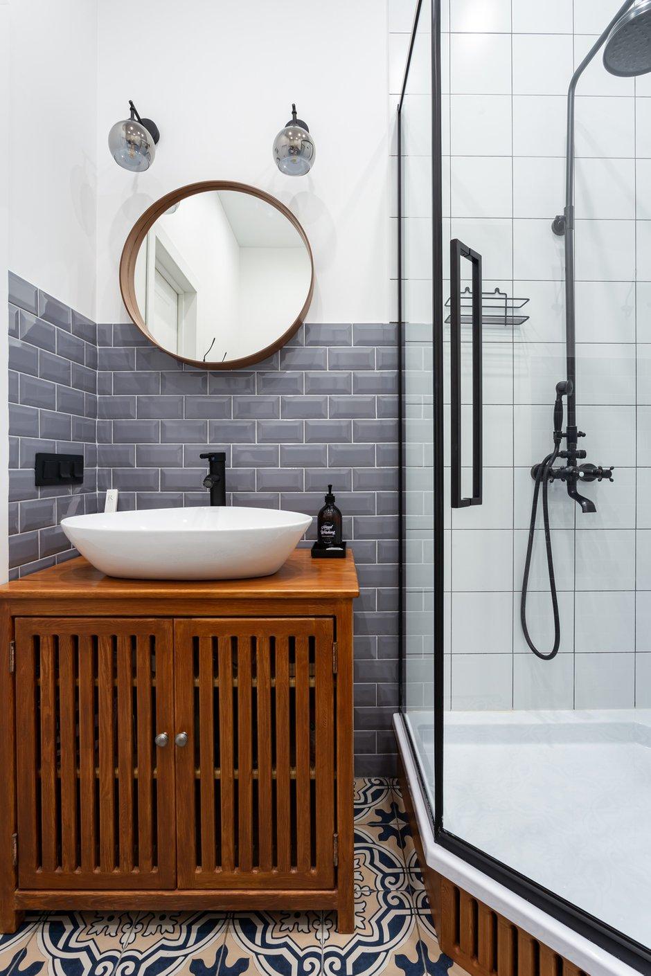 Фотография: Ванная в стиле Современный, Малогабаритная квартира, Студия, Проект недели, Москва, до 40 метров – фото на INMYROOM