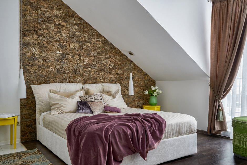 Фотография: Спальня в стиле Эко, Дом и дача, Химки, Таунхаус, Оксана Цымбалова, 4 и больше, Более 90 метров – фото на INMYROOM