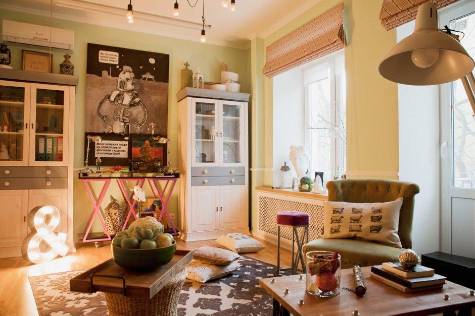 Фотография: Гостиная в стиле Эклектика, DIY, Квартира, Дома и квартиры, IKEA – фото на INMYROOM