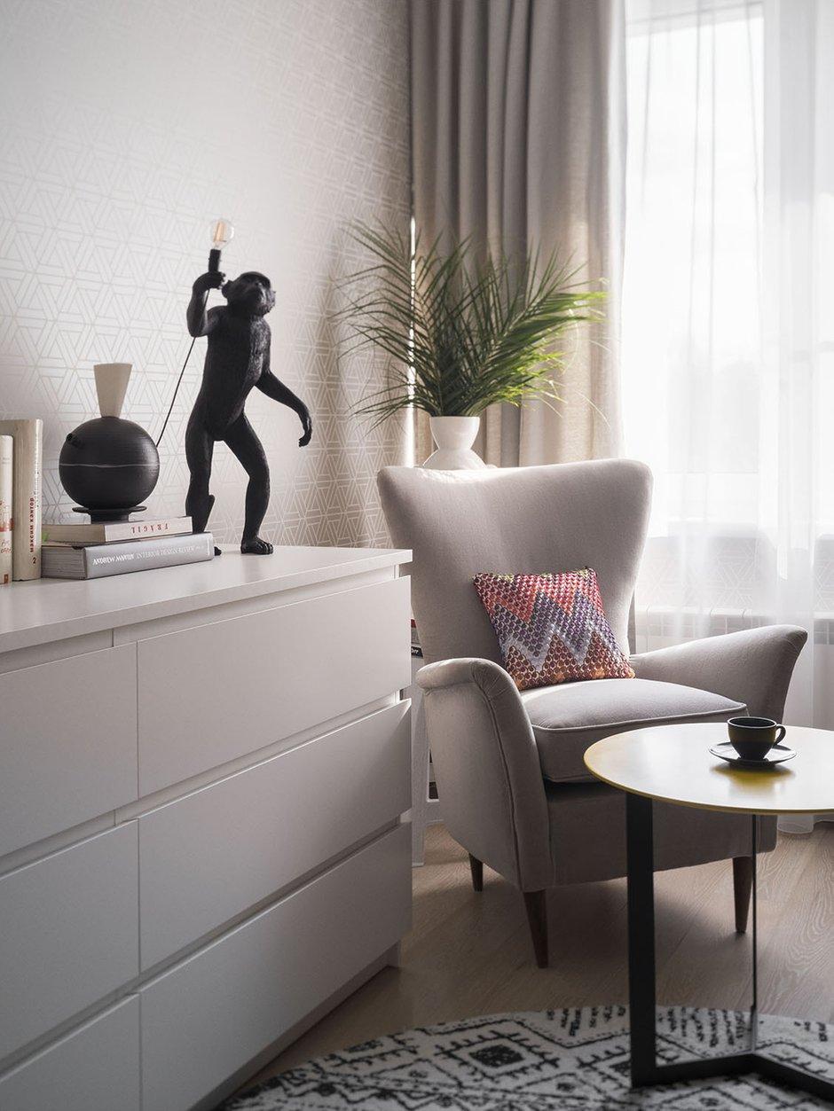 Фотография: Кабинет в стиле Современный, Квартира, Проект недели, Москва, Блочный дом, II-68, 2 комнаты, 40-60 метров, Анна Смолякова – фото на INMYROOM