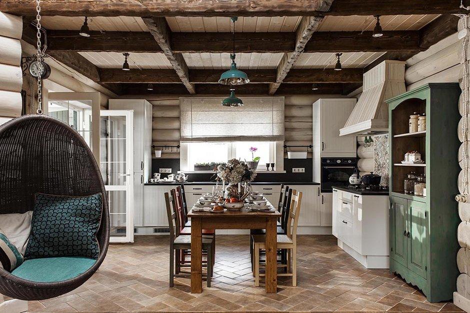 Фотография: Кухня и столовая в стиле Прованс и Кантри, Дом, Дома и квартиры, Проект недели, Эко – фото на INMYROOM