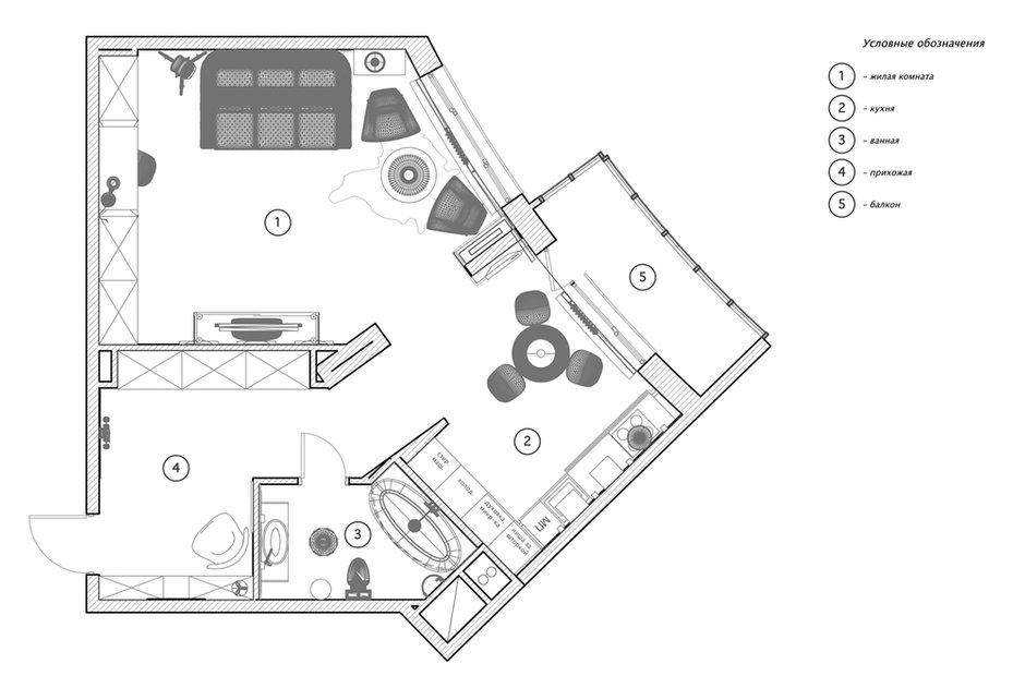 Фотография: Планировки в стиле , Лофт, Малогабаритная квартира, Квартира, Дома и квартиры, Проект недели – фото на INMYROOM