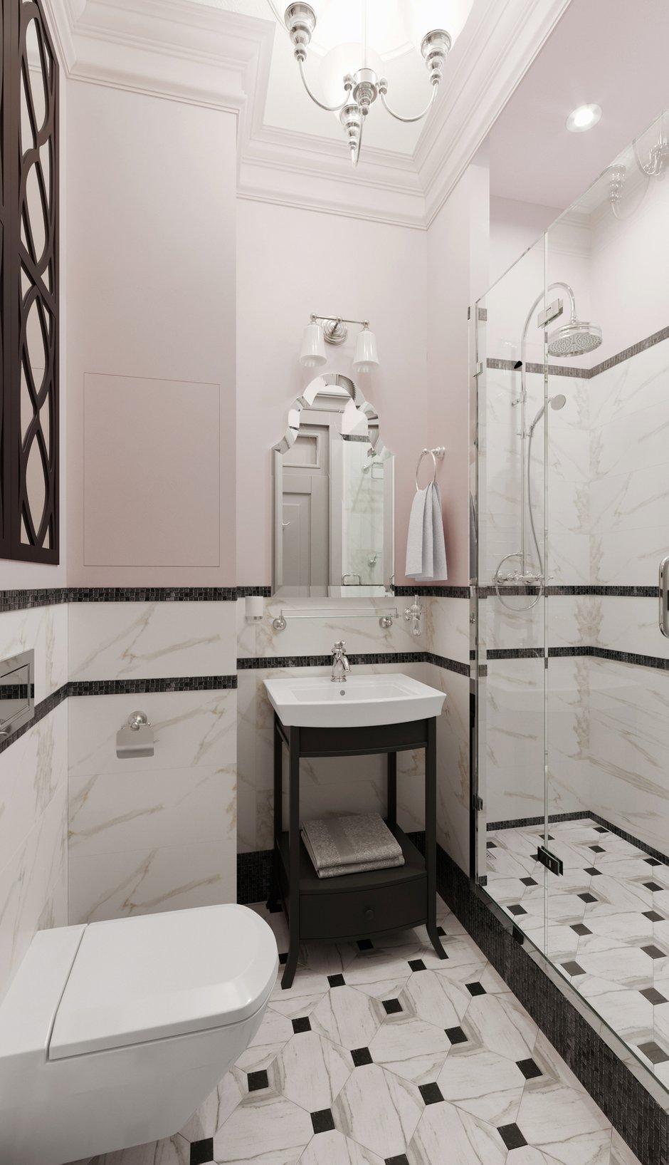 Фотография: Ванная в стиле Классический, Эклектика, Квартира, Проект недели, Москва, Светлана Старцева, Кирпичный дом, 2 комнаты, 40-60 метров – фото на INMYROOM