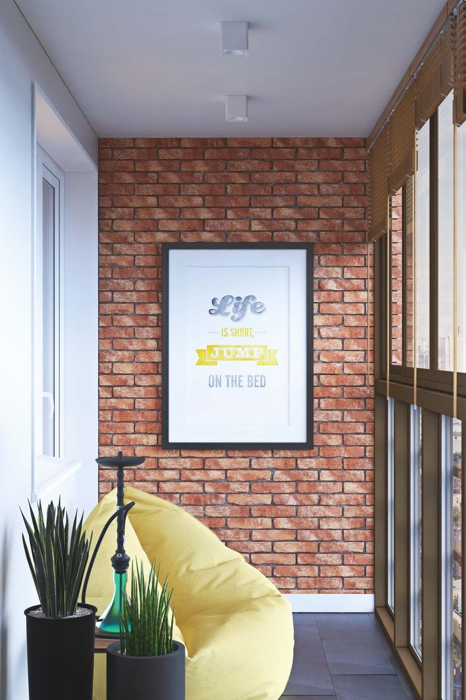 Фотография: Балкон в стиле Лофт, Квартира, Проект недели, Одинцово, Geometrium, Московская область, Монолитный дом, 2 комнаты, 60-90 метров – фото на InMyRoom.ru