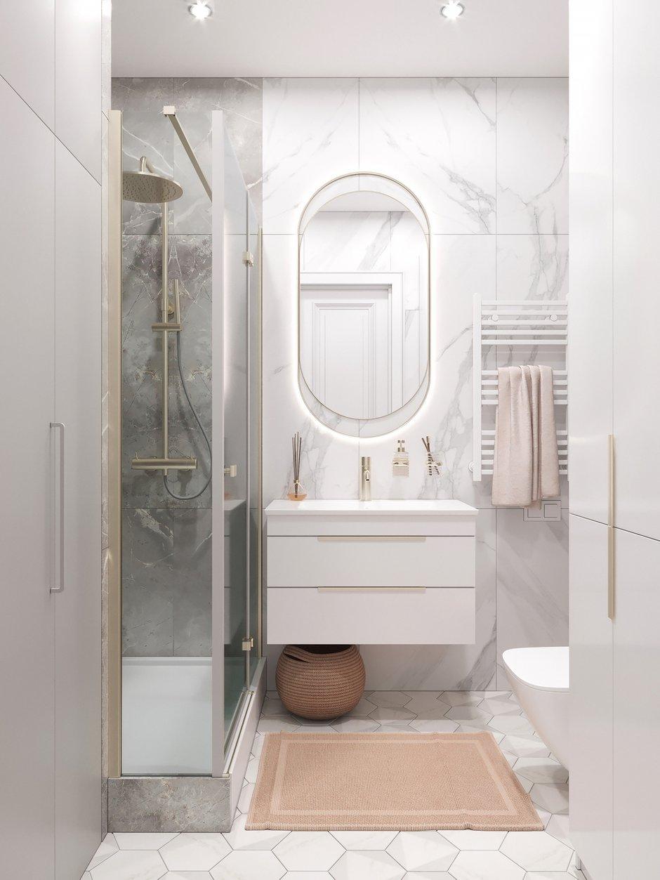 Фотография: Ванная в стиле Современный, Прихожая, Квартира, Проект недели, Москва, 2 комнаты, 40-60 метров – фото на INMYROOM