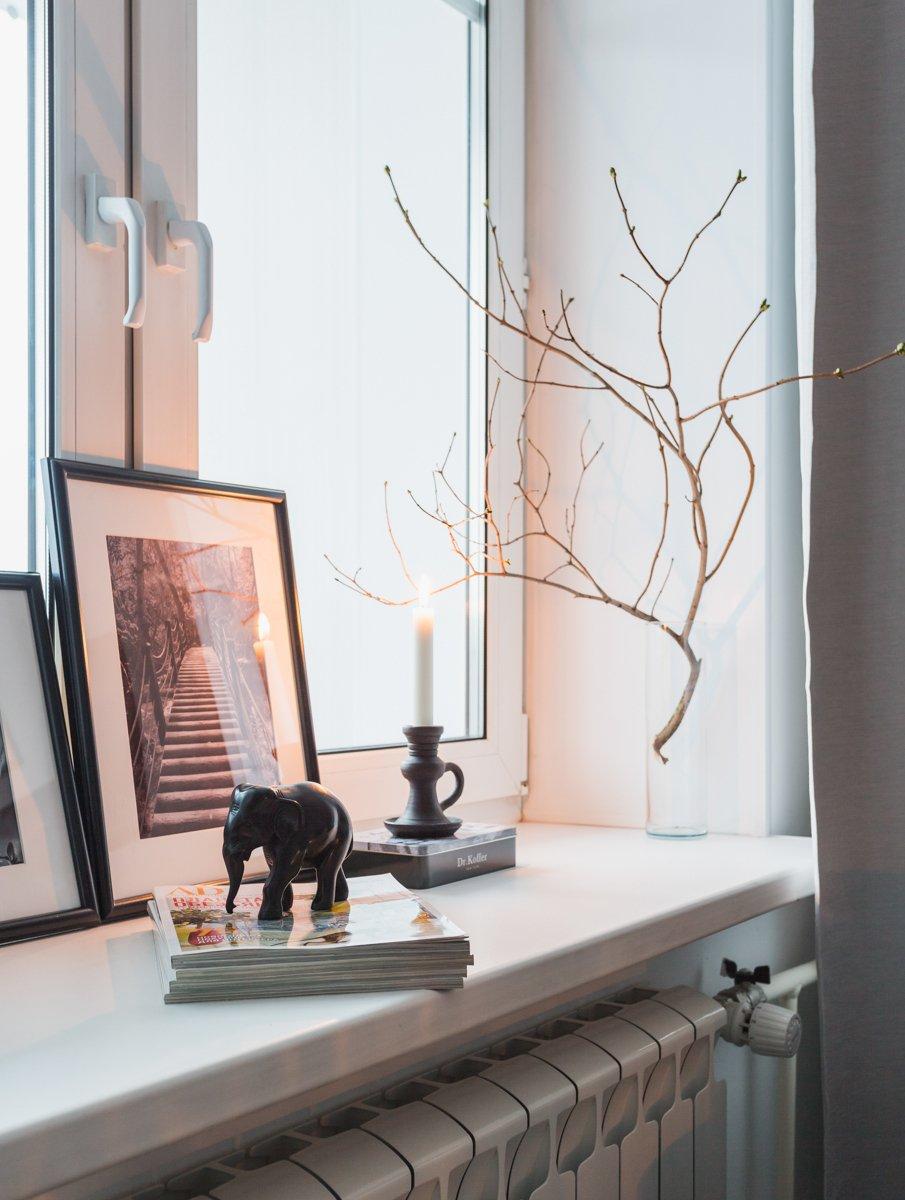 Фотография: Декор в стиле Скандинавский, Квартира, Проект недели, Москва, ИКЕА, Анна Ковальченко, Кирпичный дом, 1 комната, до 40 метров – фото на INMYROOM