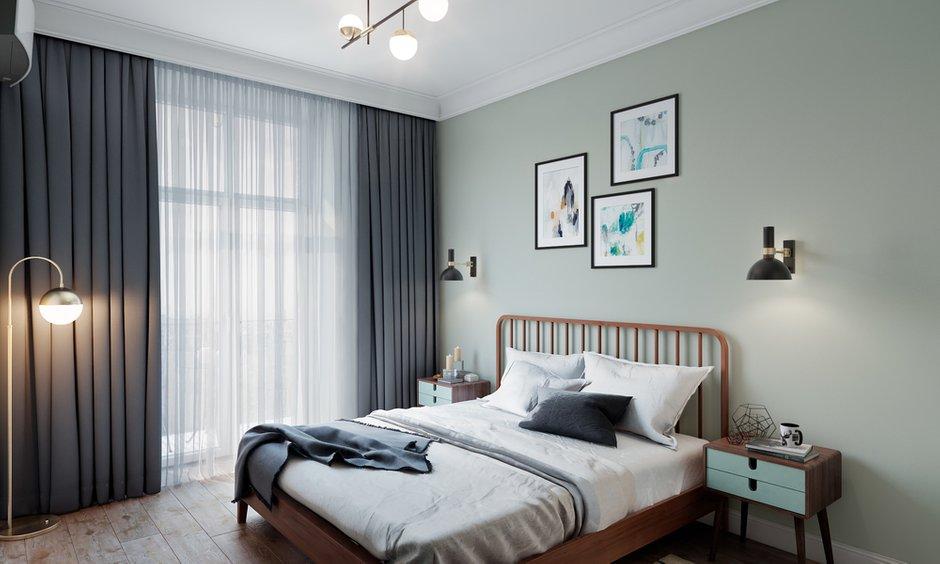 Фотография: Спальня в стиле Скандинавский, Квартира, Проект недели, Samsung, Co:Interior, 2 комнаты, 60-90 метров, Москав, mid-century modern – фото на INMYROOM