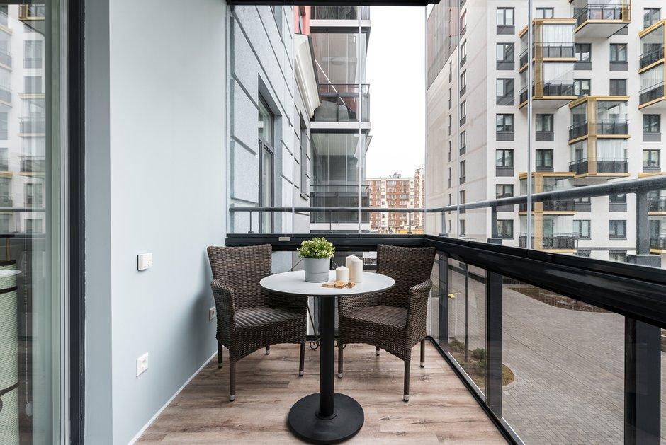 Фотография: Балкон в стиле Современный, Квартира, Проект недели, Санкт-Петербург, 3 комнаты, Более 90 метров, Lavhome, Тамара Литус – фото на INMYROOM