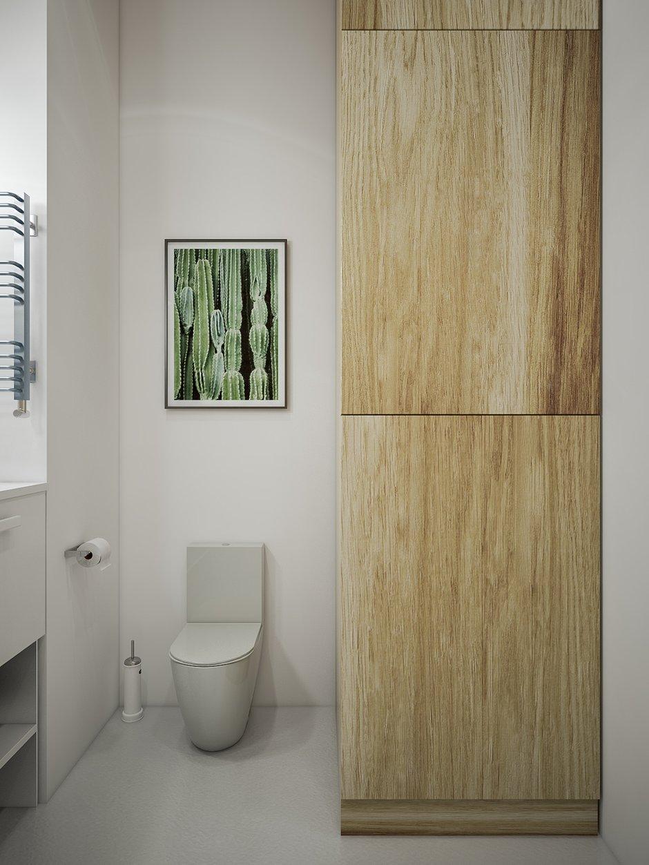 Фотография: Ванная в стиле Скандинавский, Квартира, Проект недели, Москва, 4 и больше, 60-90 метров, «Точка дизайна» – фото на InMyRoom.ru
