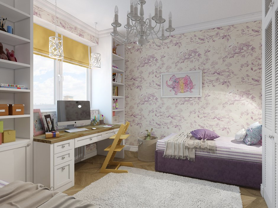 Фотография: Детская в стиле Классический, Современный, Проект недели, Москва, Светлана Старцева, 3 комнаты, Более 90 метров – фото на INMYROOM