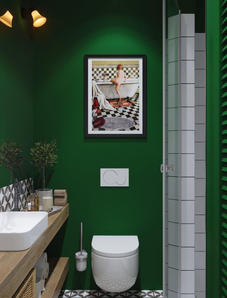 Фотография: Ванная в стиле Скандинавский, Эко, Квартира, Проект недели, Московская область, 1 комната, до 40 метров, Ира Носова – фото на INMYROOM