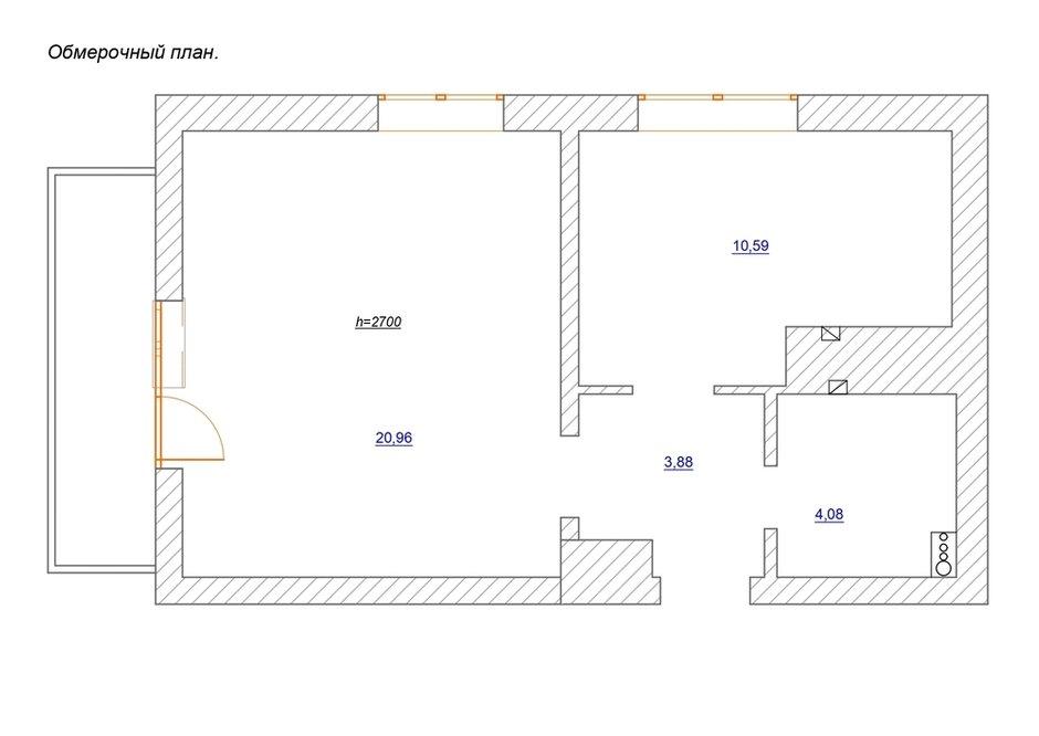 Фотография: Планировки в стиле , Лофт, Квартира, Проект недели, Самара, 1 комната, до 40 метров, Екатерина Малмыгина – фото на INMYROOM