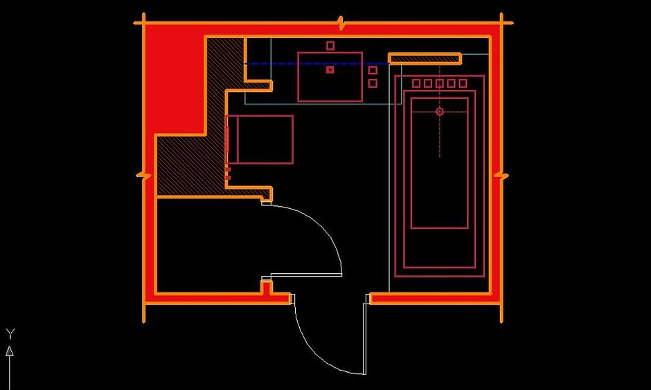 Фотография: Планировки в стиле , Ванная, Малогабаритная квартира, Интерьер комнат, Проект недели – фото на InMyRoom.ru