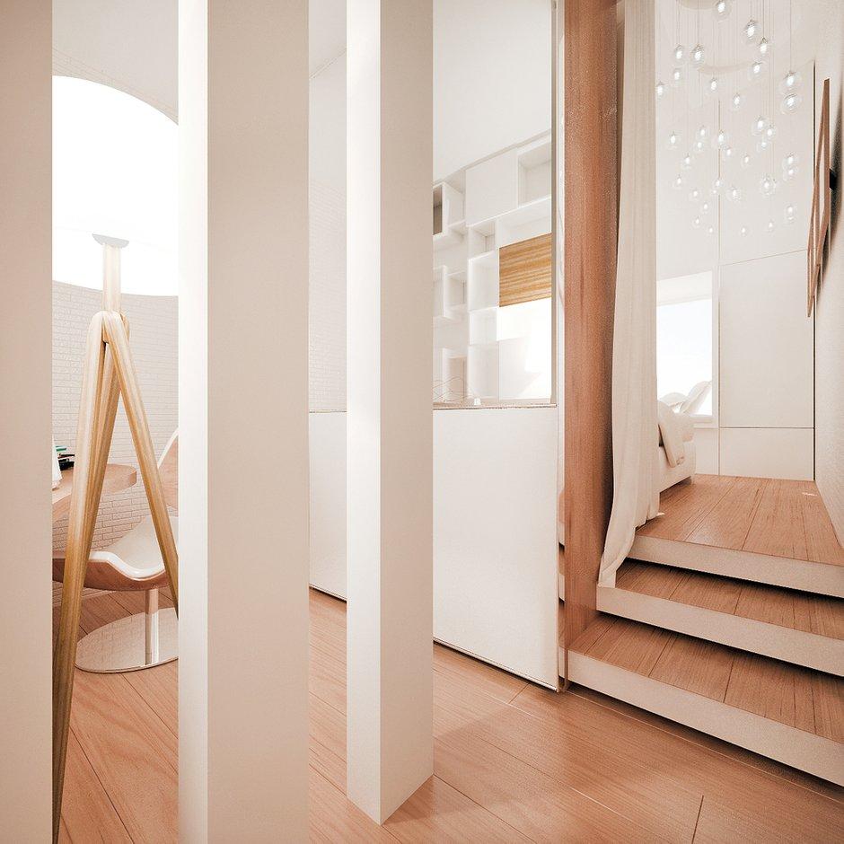 Фотография: Прихожая в стиле Современный, Квартира, Дома и квартиры, Проект недели, Мансарда – фото на InMyRoom.ru