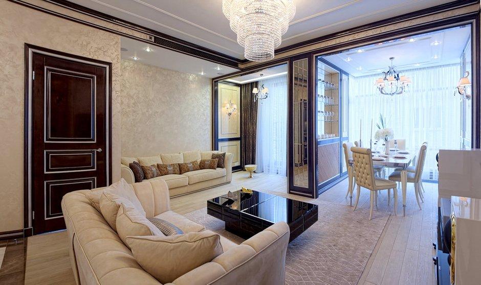 Фотография: Гостиная в стиле Классический, Квартира, Дома и квартиры, Ар-деко, Неоклассика – фото на INMYROOM