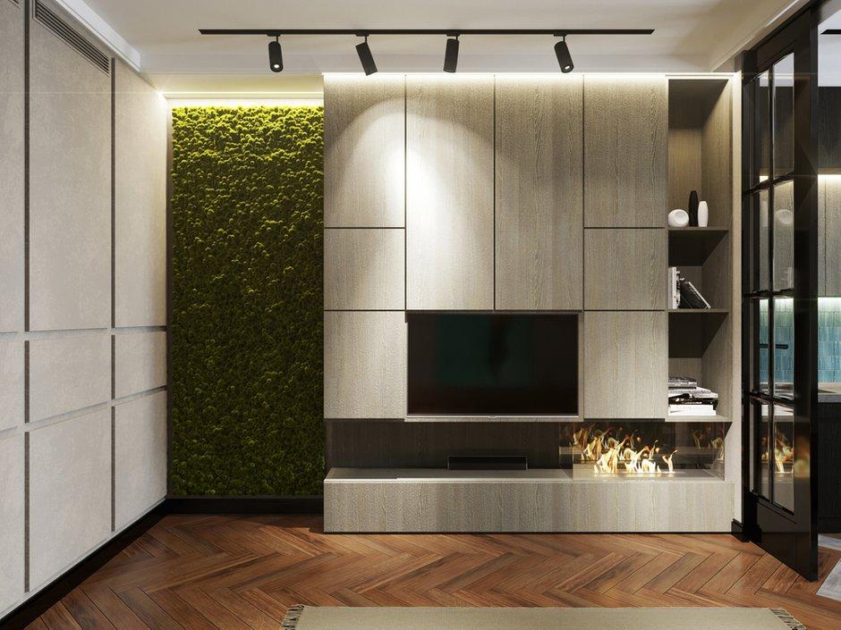 Фотография: Гостиная в стиле Современный, Квартира, Проект недели, Монолитный дом, 2 комнаты, 40-60 метров, ЖК «Маяк» – фото на INMYROOM